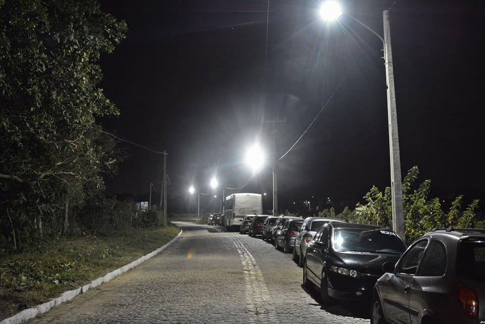 Trecho de Uruaçu a Pajussara ganha nova iluminação pública