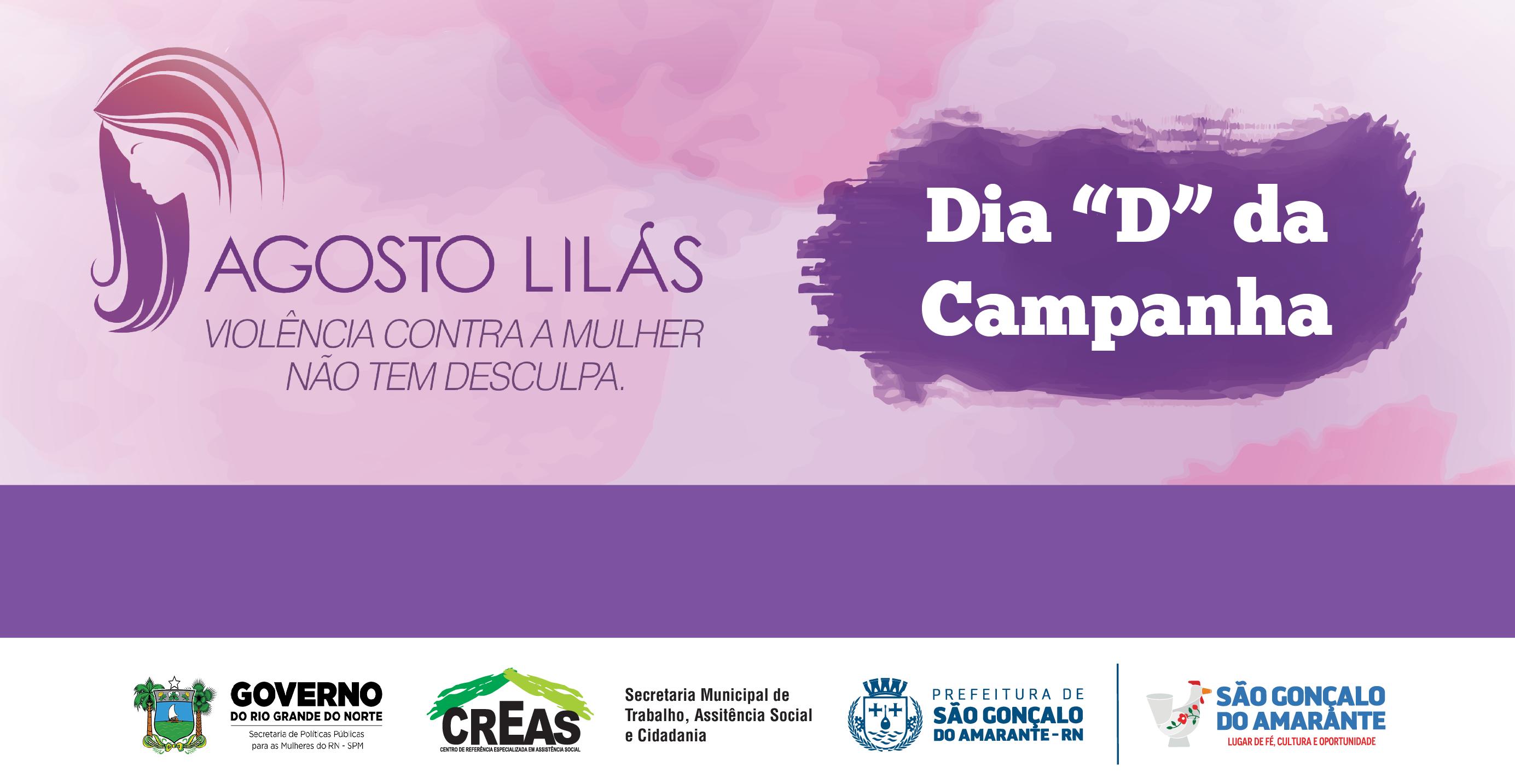 """Prefeitura realizará programação dia """"D"""" da campanha Agosto Lilás"""