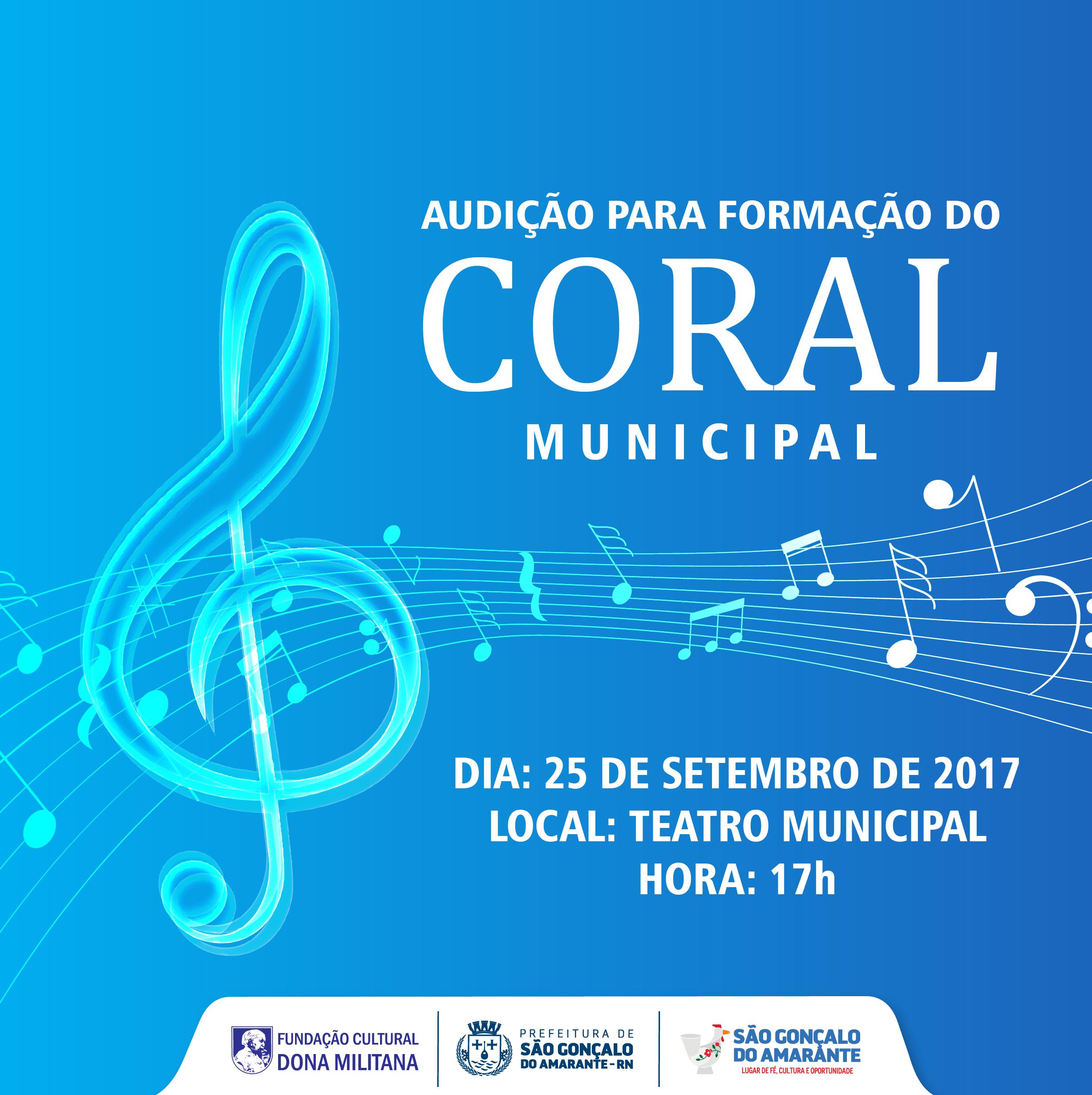 Coral Municipal faz audição segunda para preencher 40 vagas