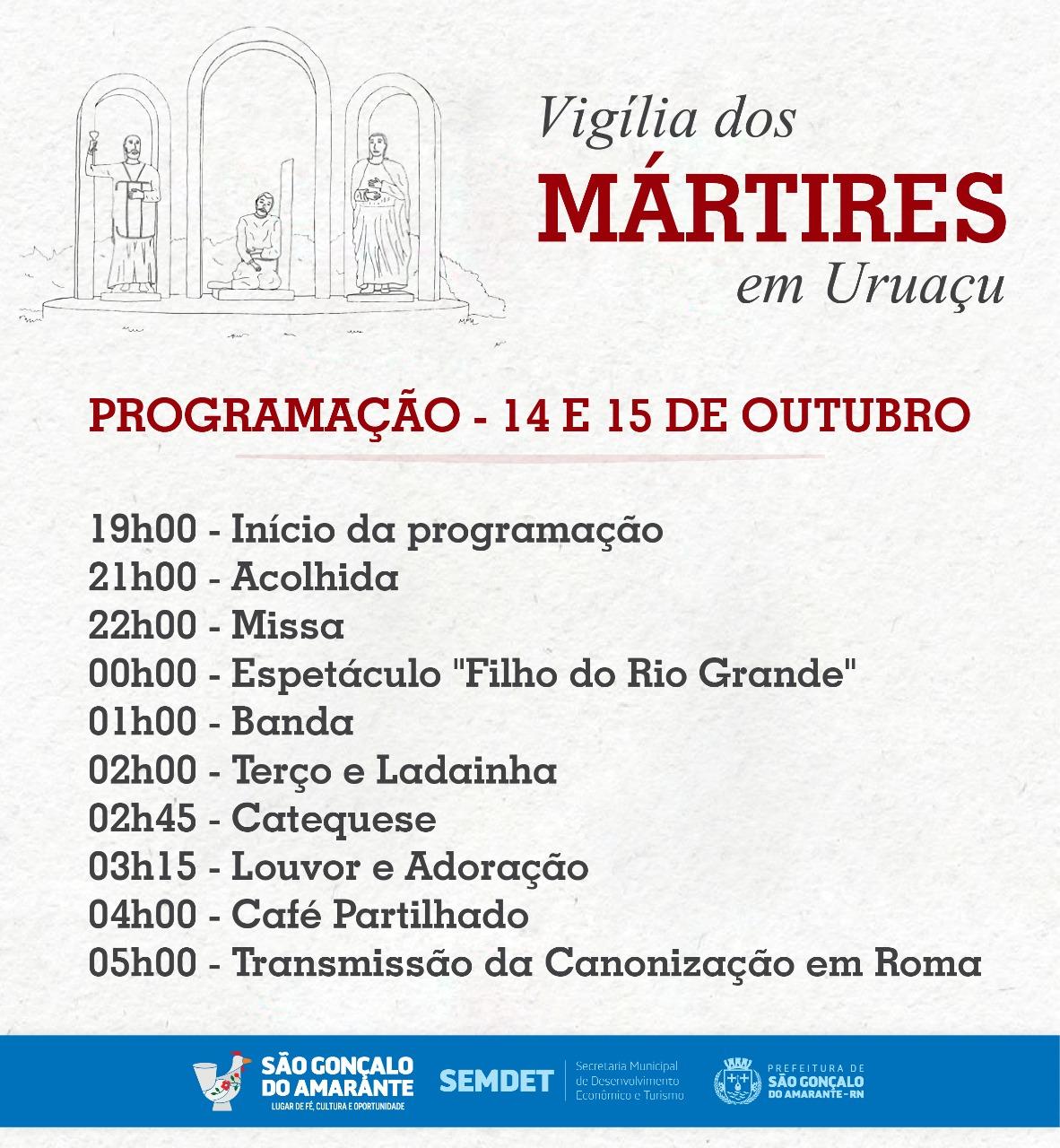 Fieis se reúnem no Monumento dos Mártires pra assistir Canonização
