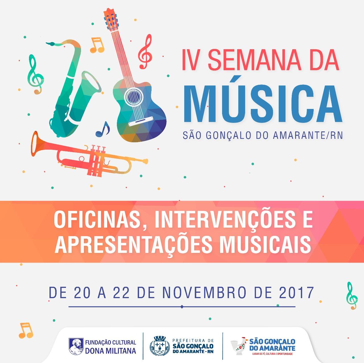 Semana da Música acontece de 20 a 22 de novembro