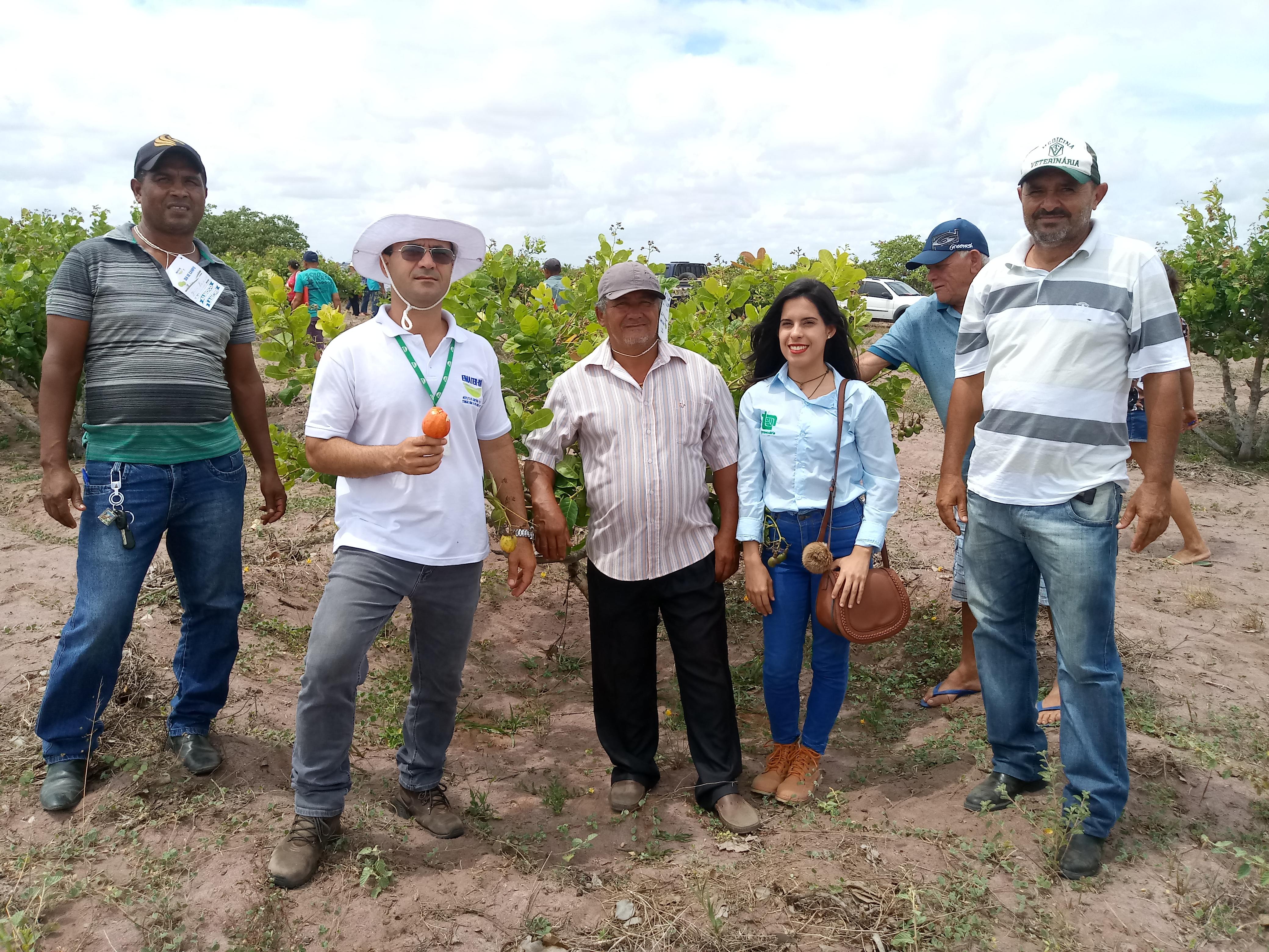 """Técnicos e agricultores são-gonçalenses participam do """"Dia de Campo"""" em Ceará-Mirim"""