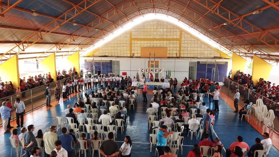 Quadra esportiva do Cemef Dom Joaquim é inaugurada