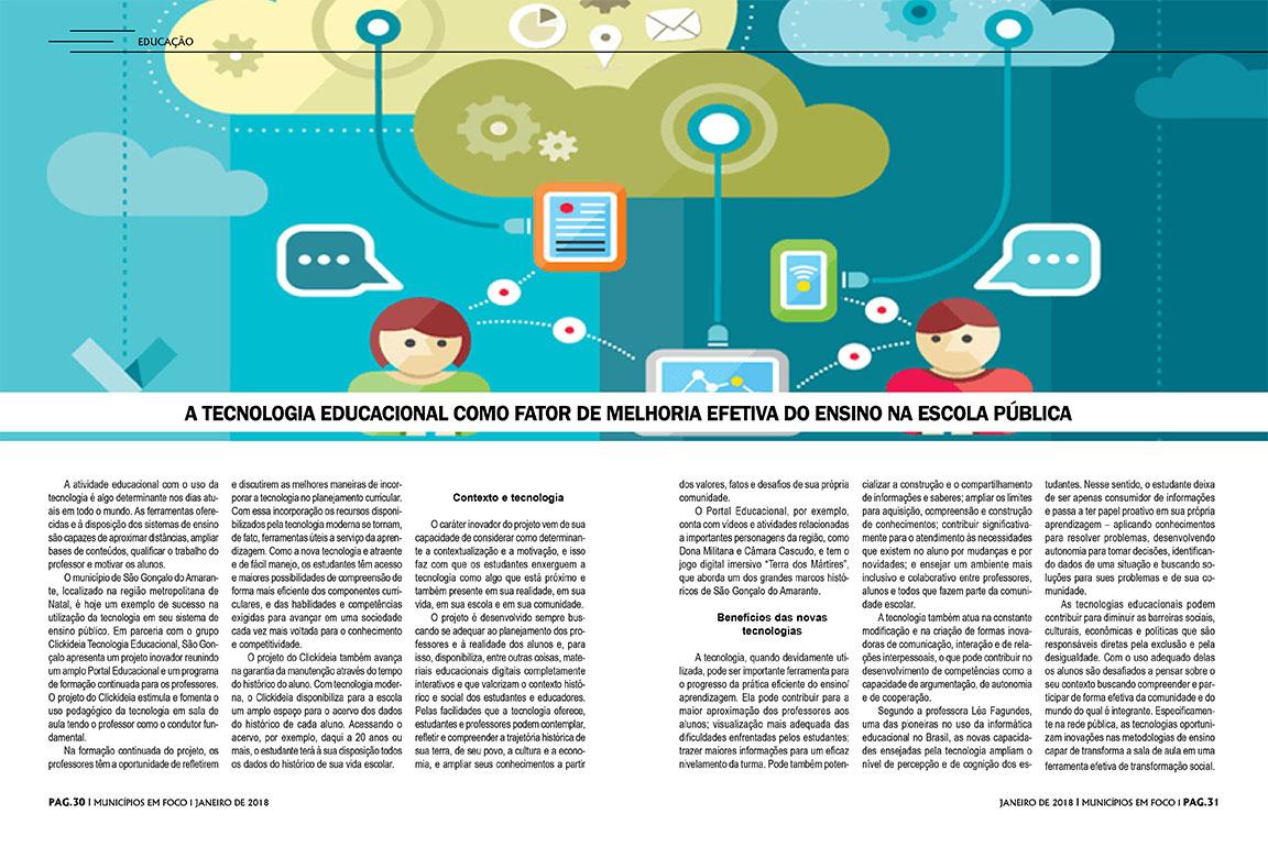 Educação de São Gonçalo é destaque em revista regional