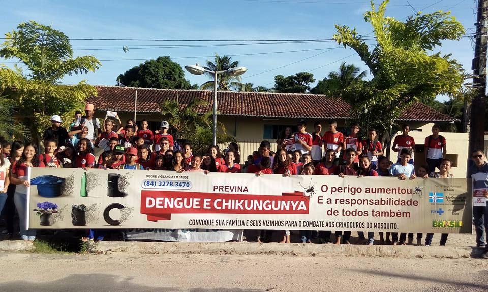 Caminhada contra a dengue é realizada em Alagadiço Grande