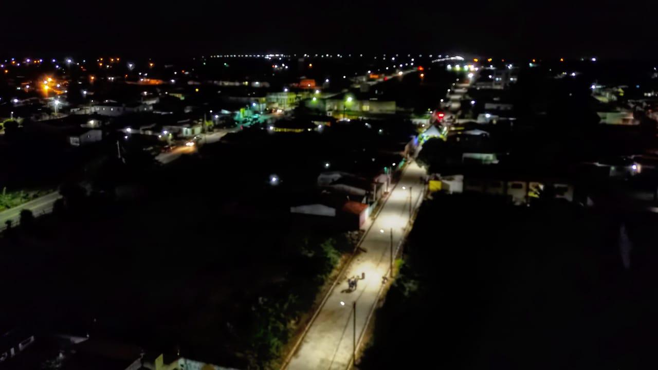 No Santa Terezinha mais ruas foram pavimentas e iluminadas por LED