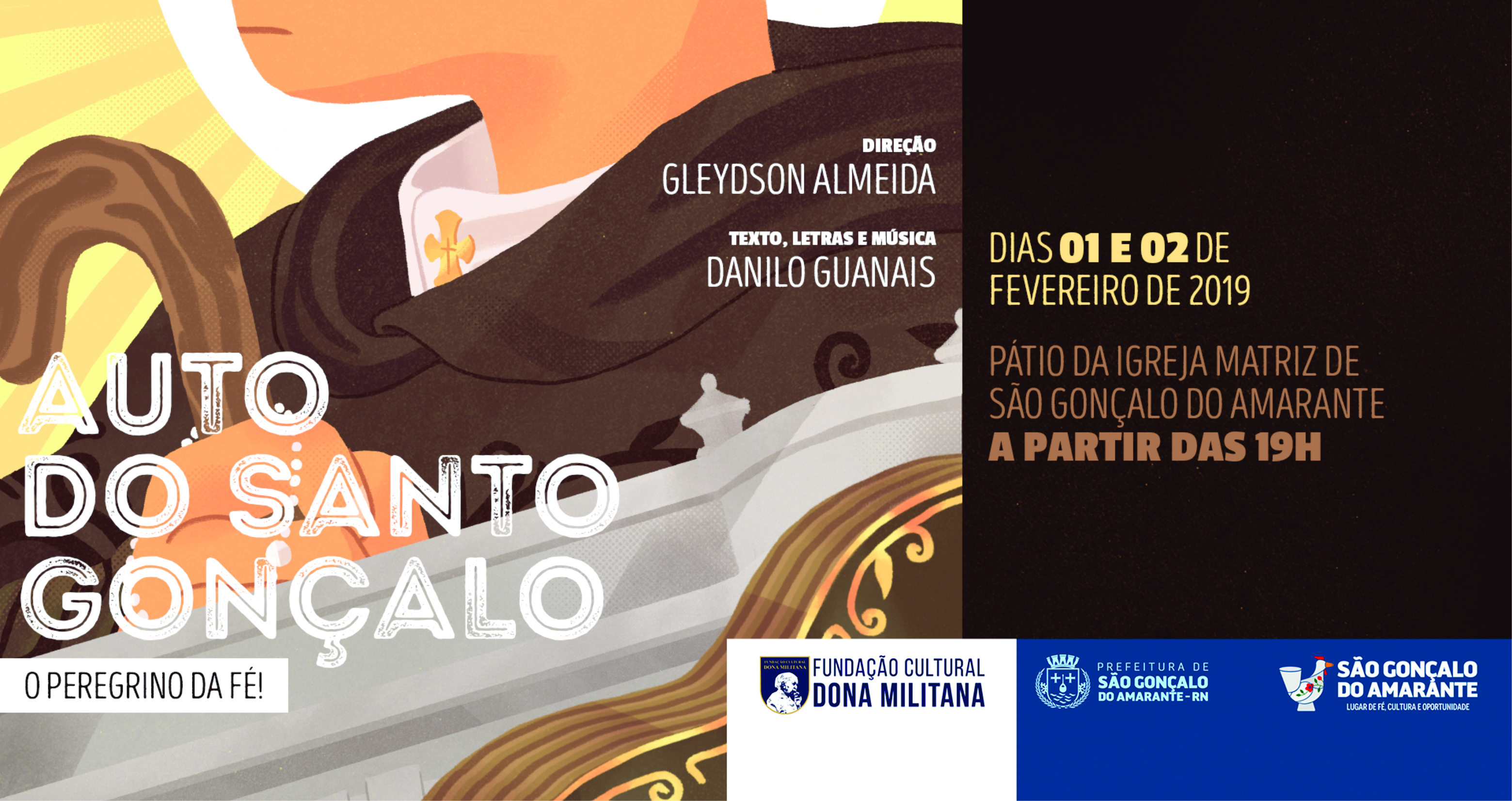 Prefeitura estreia Auto do Santo Gonçalo durante festejos culturais
