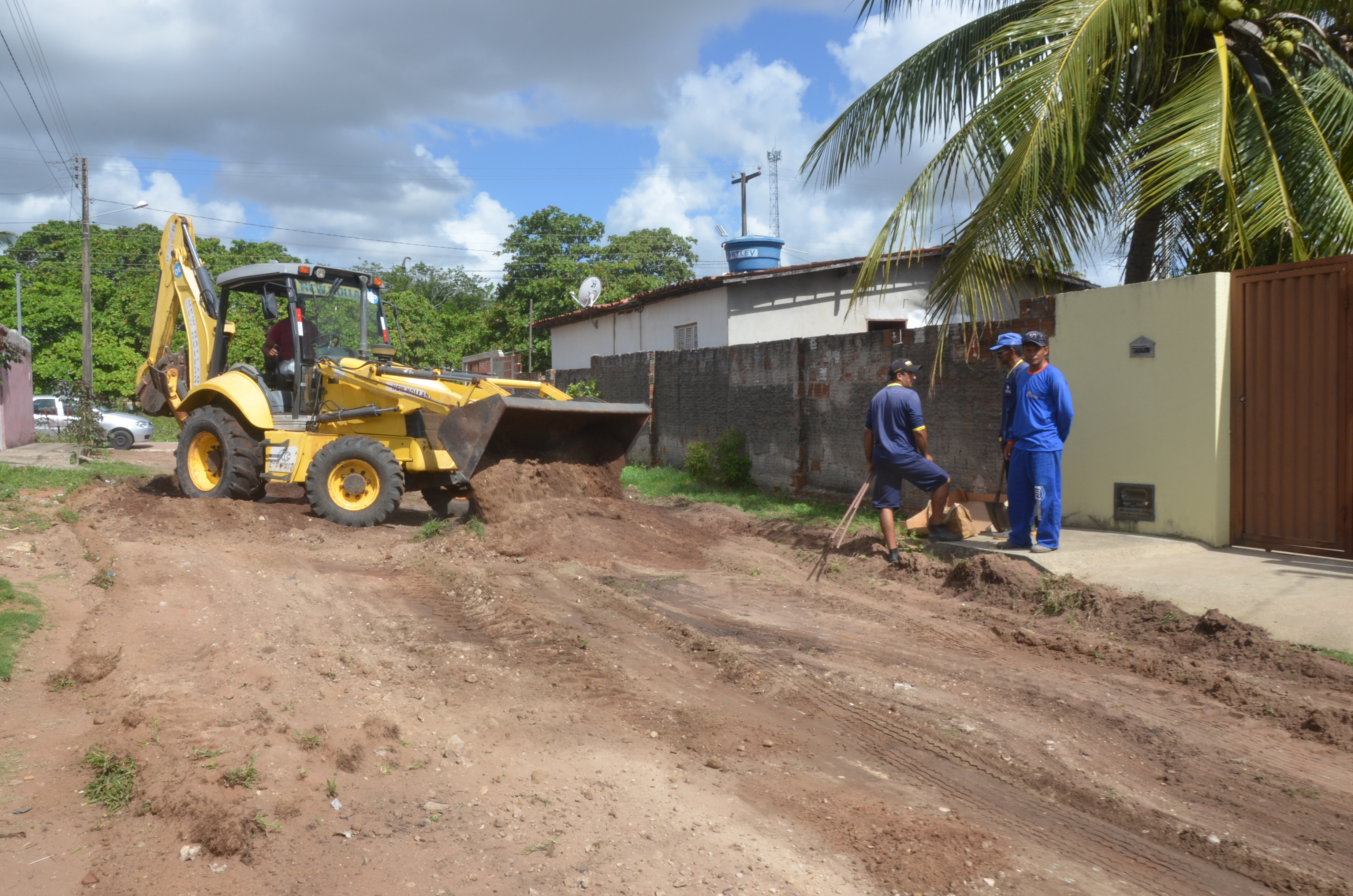 Prefeitura assina ordem de serviço para pavimentação de ruas no Loteamento Novo Horizonte