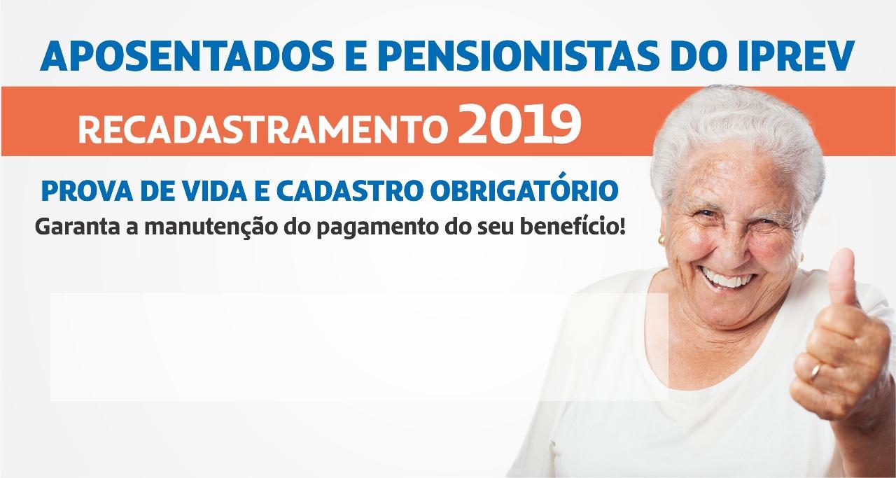 Iprev inicia recadastramento de servidores aposentados e pensionistas