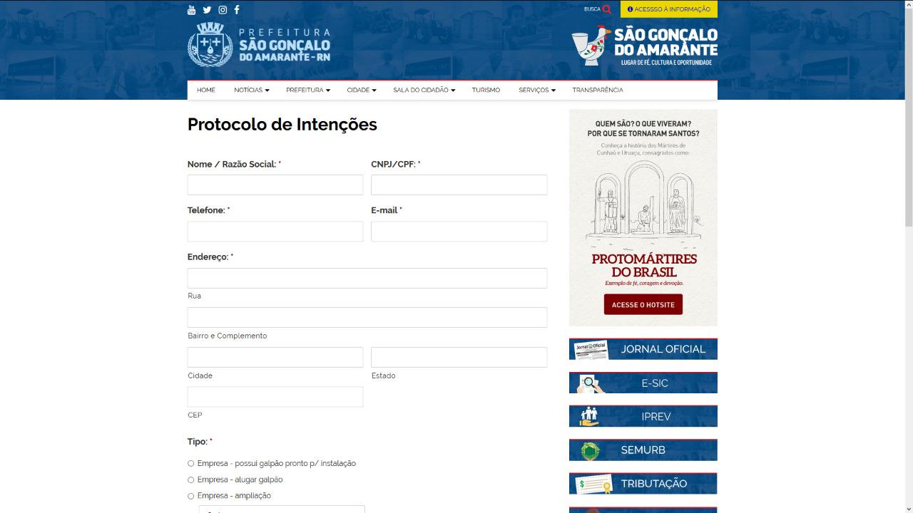 Prefeitura de São Gonçalo cria protocolo de intenções online para empreendedores interessados no município