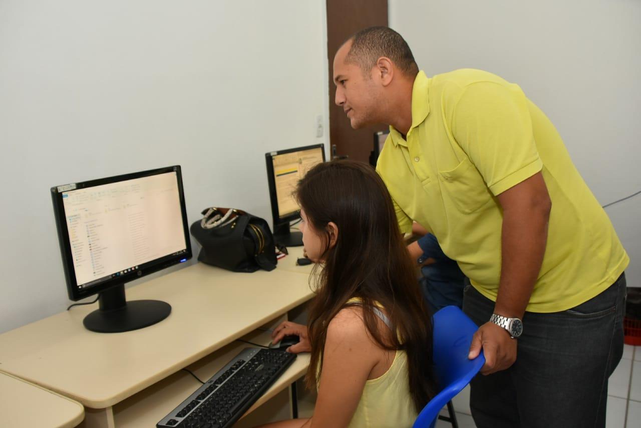 Prefeitura oferece curso profissionalizante de informática em unidade do Telecentro