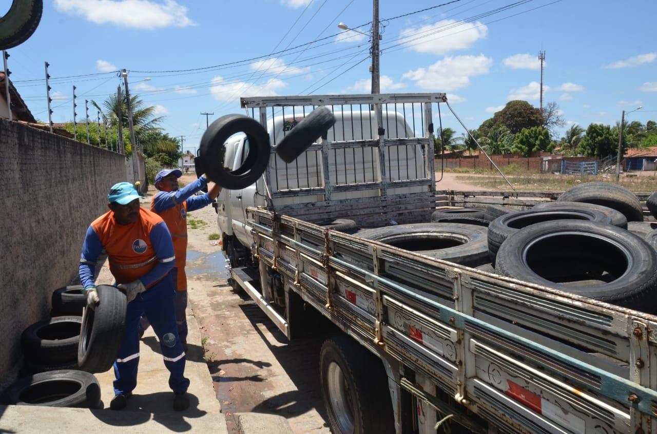 Prefeitura de São Gonçalo realiza coleta de pneus em borracharias do município