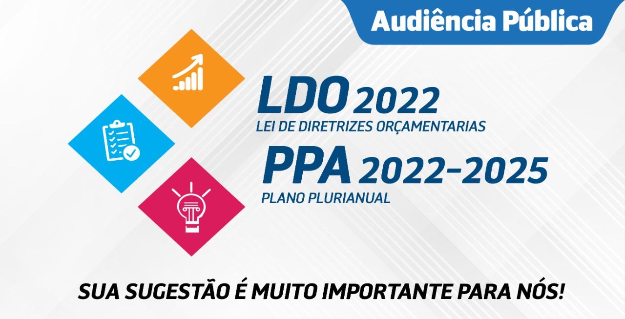 Prefeitura realiza Audiência Pública eletrônica para discussão do Plano Plurianual e da Lei de Diretrizes Orçamentárias