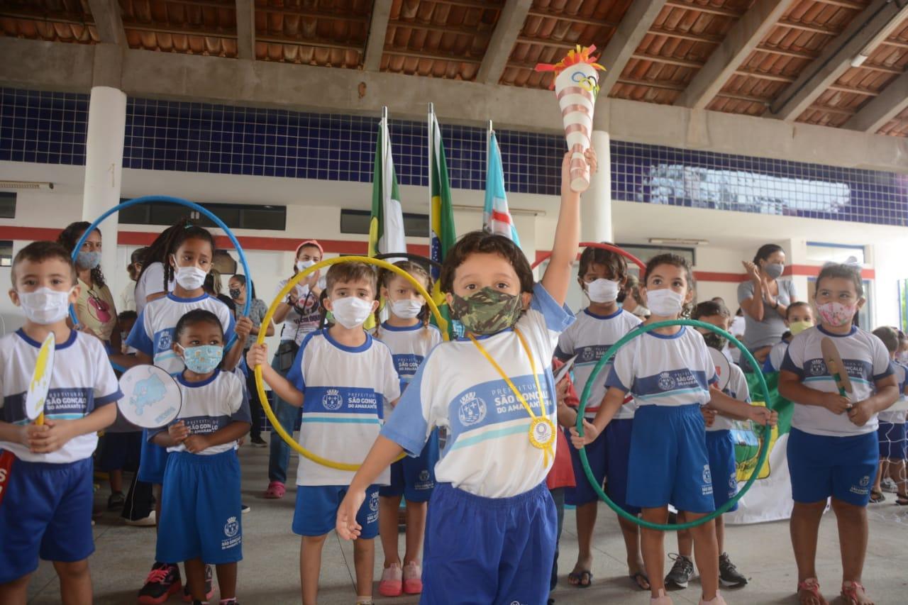 CEMEI Maria Lalá da Costa realiza projeto pedagógico em alusão aos Jogos Olímpicos